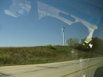 Huge wind turbine at Lutheran College in Decorah, Iowa