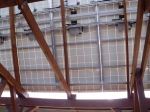 One of the solar arrays.  This one produces 1/4 of the energy needed for this site.