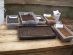 Different materials used in the soil production.